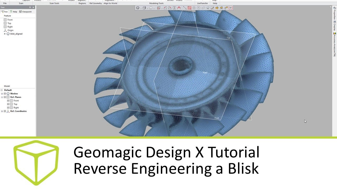Geomagic Design X Tutorial Reverse Engineering A Blisk Youtube