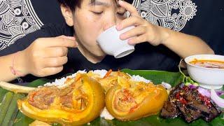 SPICY PORK with Bamboo shoot, Pork liver stir fry mukbang | +recipe | Meitei Mukbang