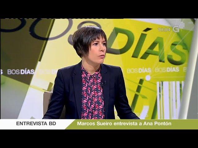 """Ana Pontón na TVG: """"Como galega, non permitiría que seguisen subindo as peaxes da AP-9 máis e máis"""""""