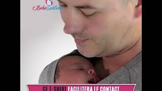 T-shirt peau à peau pour papa et bébé