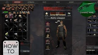 How To Modify Weapons | How to Modify Armor | Chapter 6 Objective | Conan Exiles