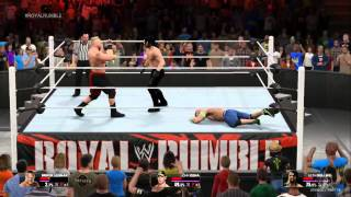 Royal Rumble 2015   Brock Lesnar vs John Cena vs Seth Rollins