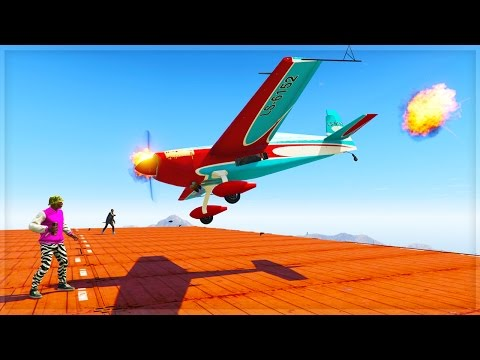 Thumbnail: STOP THE STUNT PLANES!! (GTA 5 Online Funny Moments)