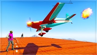 STOP THE STUNT PLANES!! (GTA 5 Online Funny Moments)