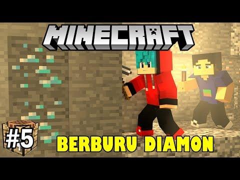 BERBURU DIAMON DENGAN BAMBANG | MINECRAFT SURVIVAL INDONESIA #5