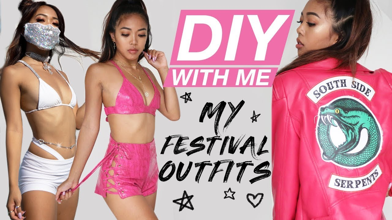 MY FIRST DIYWM! Making My Summer Festival Outfits! | DIY | Nava Rose 4