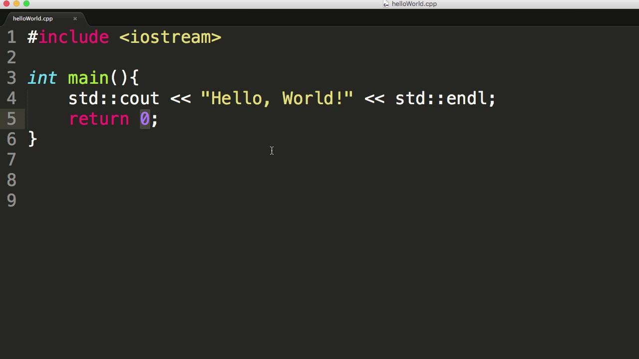 A First C Program Hello World Youtube