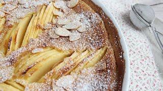 Apple and almond tart - TARTE NORMANDE  Petitchef
