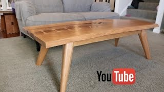 Mid-Century Modern Live Edge Coffee Table