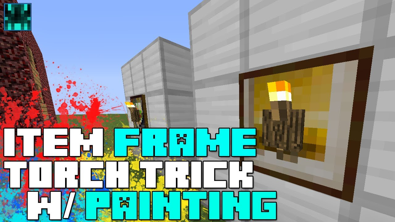 Minecraft - Item Frame Torch Trick with Painting! - YouTube