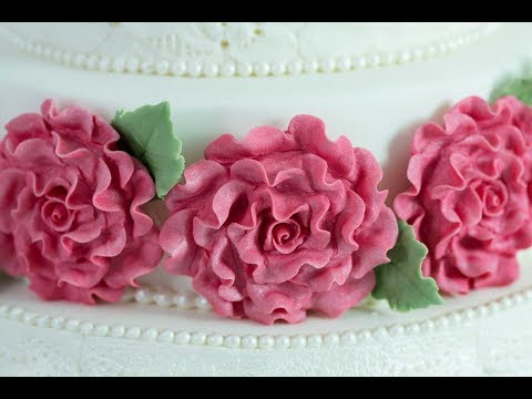 Karen Davies Cake Decorating Moulds / Molds - free beginners tutorial / how to - Roses
