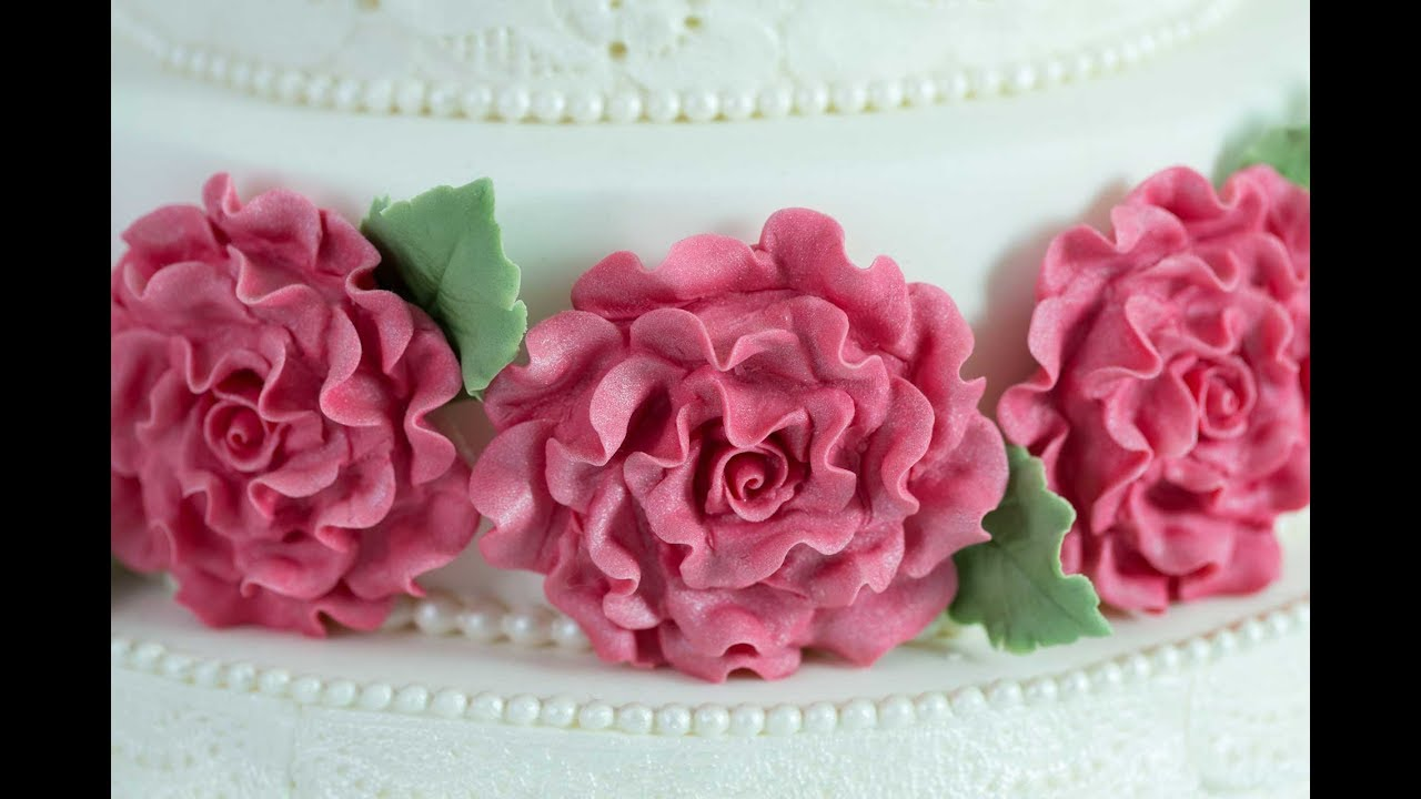 how to make sugar paste roses without cutters