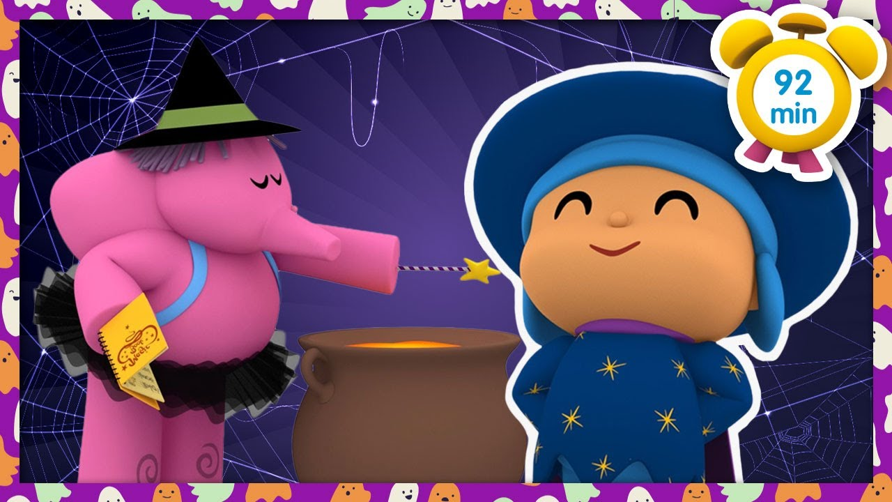 🍵 POCOYO in ENGLISH - Witches On Halloween Night [92 min] Full Episodes |VIDEOS & CARTOONS for KIDS