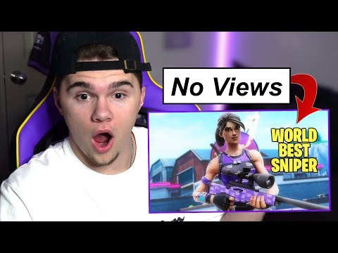 Reacting to Fortnite Videos with 0 VIEWS!! (SHOCKING)