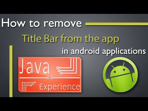 how to remove title bar in android