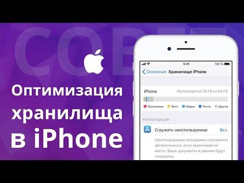 Оптимизация хранилища в IPhone