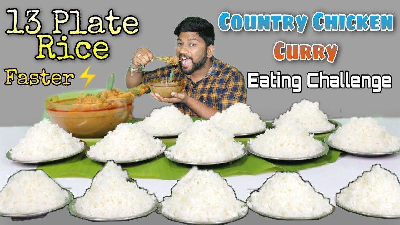 13 Plate Rice & Country Chicken Curry EATING CHALLENGE | நாட்டு கோழி குழம்பு | Eating Challenge Boys