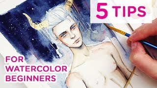 5 TIPS for Watercolor Beginners!【My Favorite Tips & Tricks】