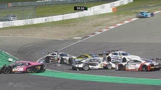 ADAC GT Masters 2017. Race 2 Nürburgring. Start Crash