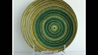 Точечная роспись. Декоративные тарелки от Adalina-art