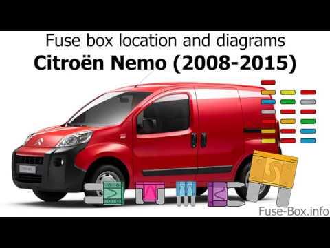Fuse box location and diagrams Citroen Nemo (2008-2015) - YouTube