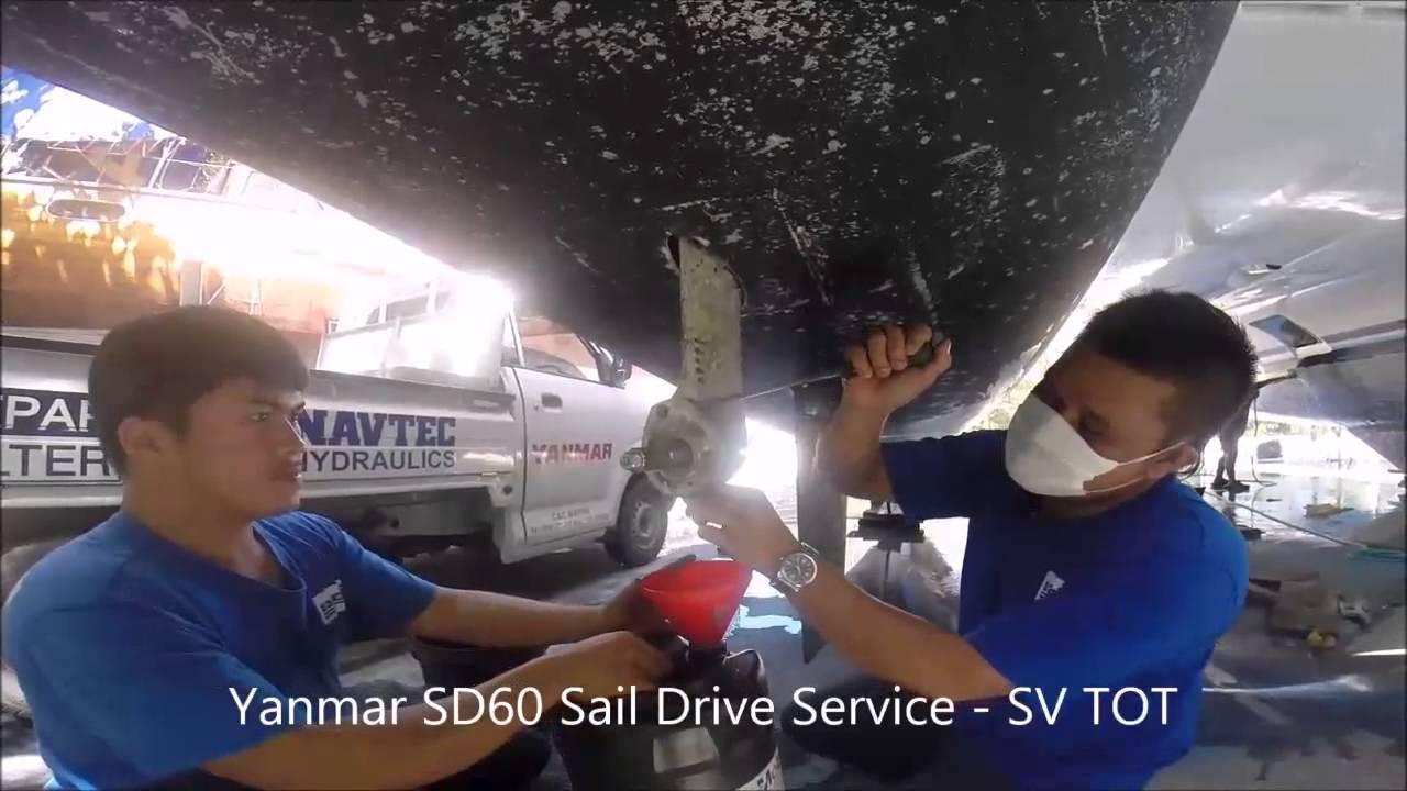 SV TOT - Yanmar Saildrive Service - YouTube