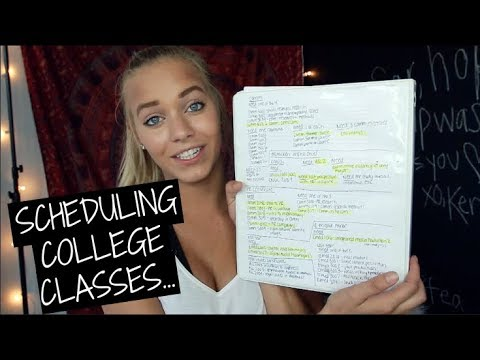SCHEDULING COLLEGE CLASSES...what I wish I knew!
