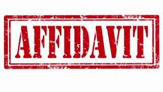 What is mean by Affidavit? जूठी एफिडेविट देनेपर सज़ा का क्या प्रावधान है?