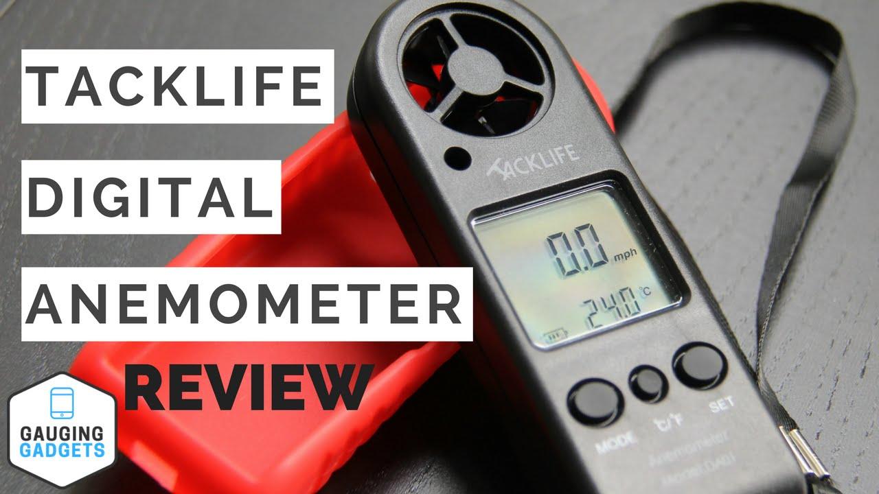 Tacklife Digital Anemometer Review - Handheld Wind Speed Gauge - YouTube