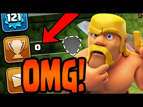 Clash of Clans: 0 TROPHIES!?  SUB 200 FARMING