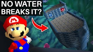 What if Jolly Roger Bay Had No Water in Super Mario 64?