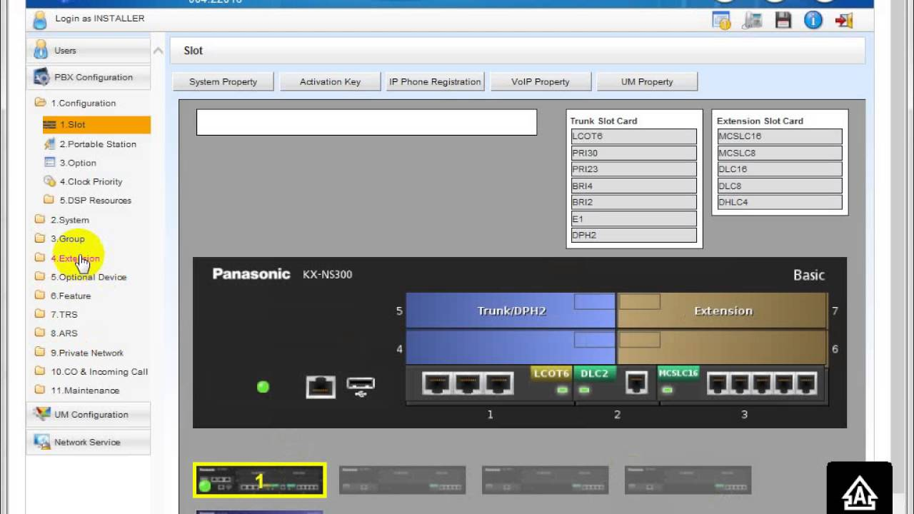How To Configure Pabx Kx Ns300 For Panasonic With Algorithms