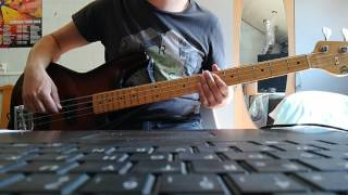 Download Lagu the Script - the man who can't be moved bass cover with tabs Mp3