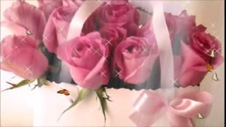 Футаж фон розы с бабочками для слайд шоу