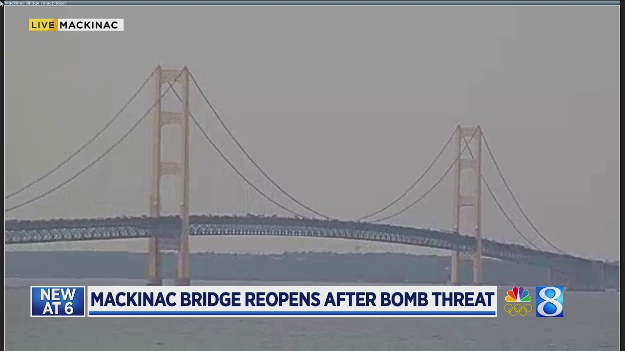 Mackinac Bridge closed Sunday due to bomb threat