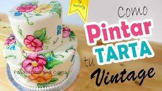 Como Pintar una Tarta estilo Vintage
