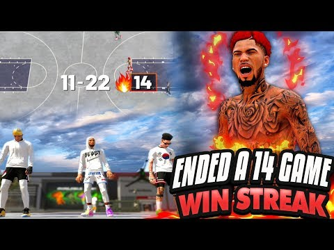 NBA 2K19 MyPARK - FINALLY! NO MORE PUSHING! We ENDED A 14-GAME WIN STREAK! thumbnail