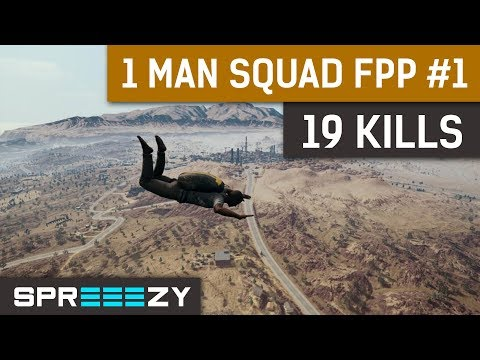 PUBG FPP 1 Man Squad Game #1 | 19 Kills Win | 1 Man ARMY!