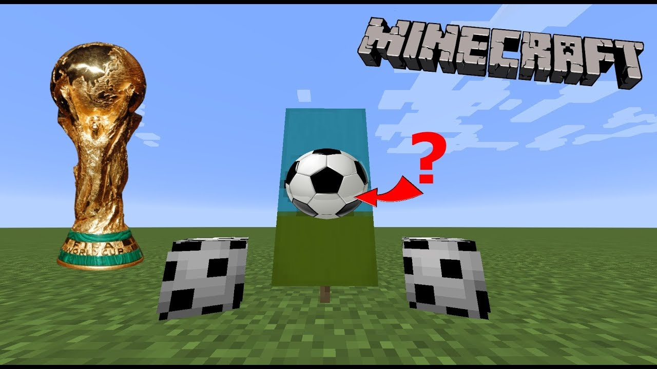 How To Make A Football Soccer Ball In Minecraft World Cup Special