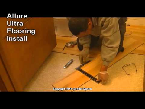Allure Ultra Bathroom Floor Install Youtube