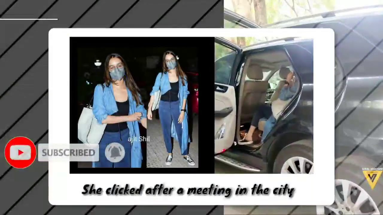 Shraddha Kapoor Spotted Today At Andheri for a Meeting! 🤓