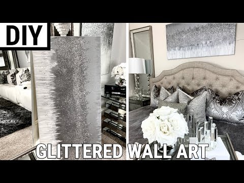 diy-glittered-wall-art-|-the-best-diy-home-decor-2019