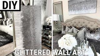 Diy Glittered Wall Art | The Best Diy Home Decor 2019
