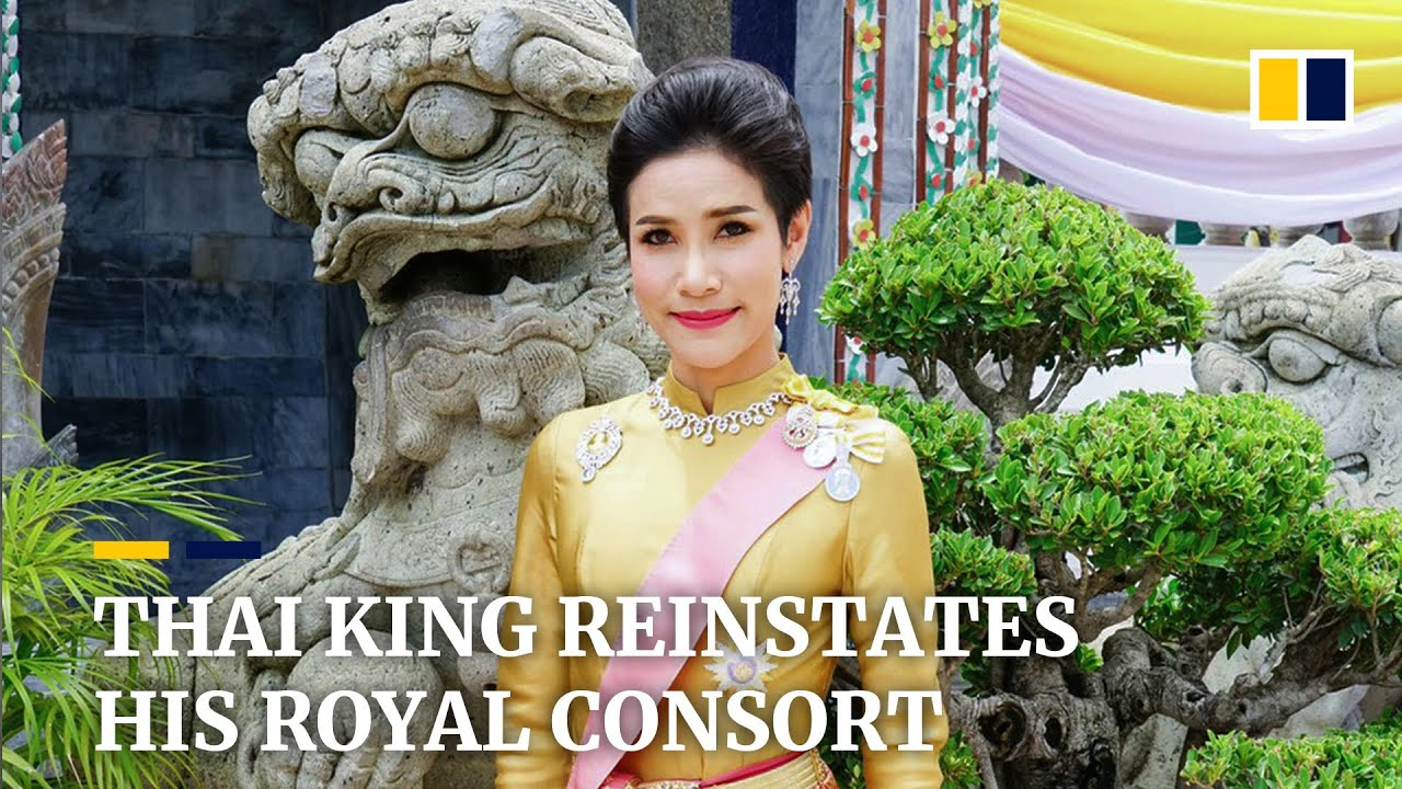 Download Thai king reinstates titles for once-disgraced royal consort