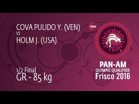 1/2 GR - 85 kg: J. HOLM (USA) df. Y. COVA PULIDO (VEN), 3-0