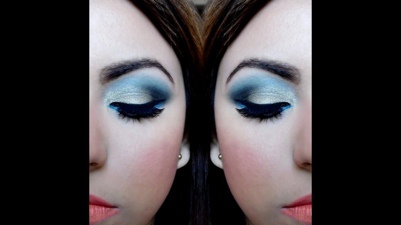 f76999743 Maquillaje de ojos paso a paso - Sombra dorada y azul | Brisia Danti ...