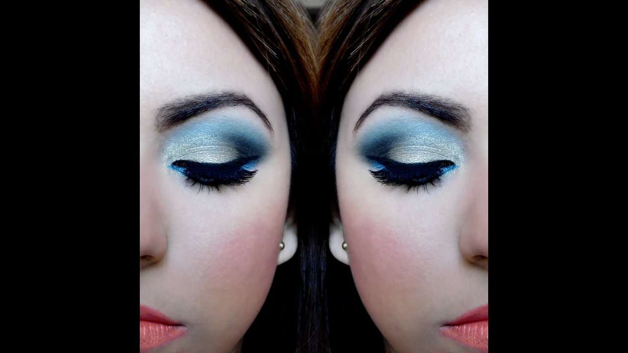 46ae13235 Maquillaje de ojos paso a paso - Sombra dorada y azul | Brisia Danti ...