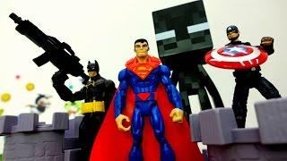 Супергерои против Эндермена (#МАЙНКРАФТ). Осада замка Радости (мультфильм ГОЛОВОЛОМКА)