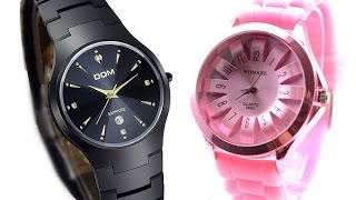 Мужские часы DOM/Женские часы WOMAGE(, 2016-05-17T15:26:21.000Z)