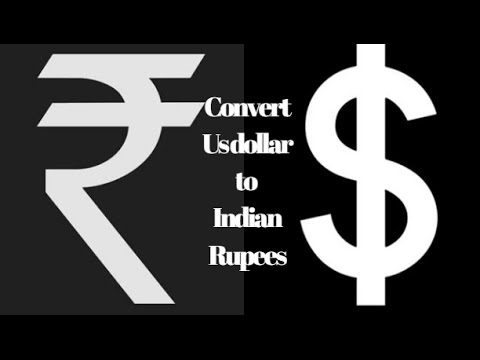 How To Convert US Dollar To Indian Rupees - Tamil